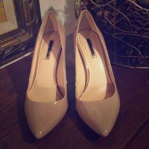 Nude heels. BCBG